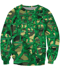Army Men Crewneck Sweatshirt - TShirtsRUS.co