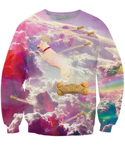 All Dogs Go to Heaven Crewneck Sweatshirt - TShirtsRUS.co