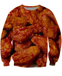 Chicken Wings Crewneck Sweatshirt - TShirtsRUS.co