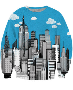Downtown City Crewneck Sweatshirt - TShirtsRUS.co
