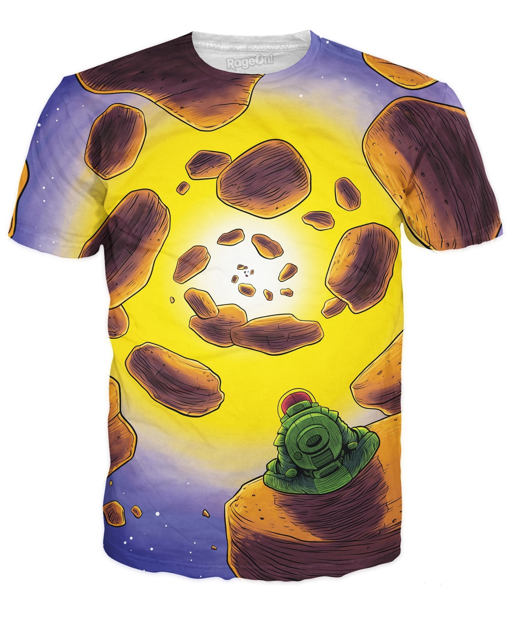 Asteroids All Over Print T-Shirt - TShirtsRUS.co
