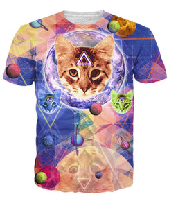 Geo Cat T-Shirt - TShirtsRUS.co