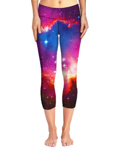 Cosmic Forces Capri Yoga Pants - TShirtsRUS.co