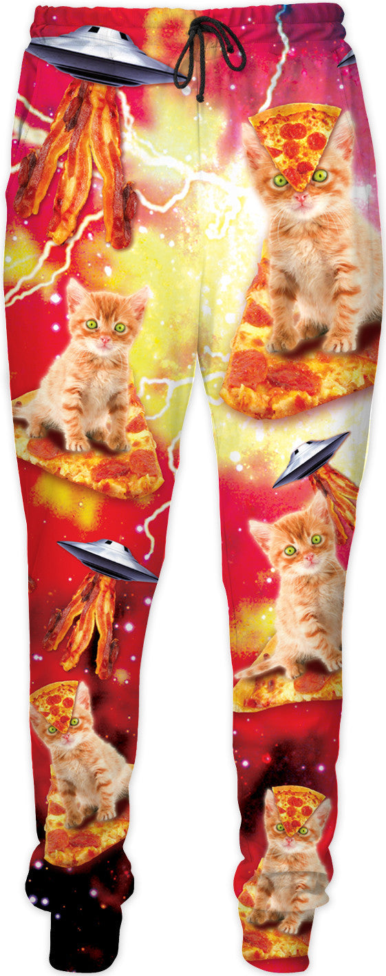 Bacon Pizza Space Cats Joggers - TShirtsRUS.co