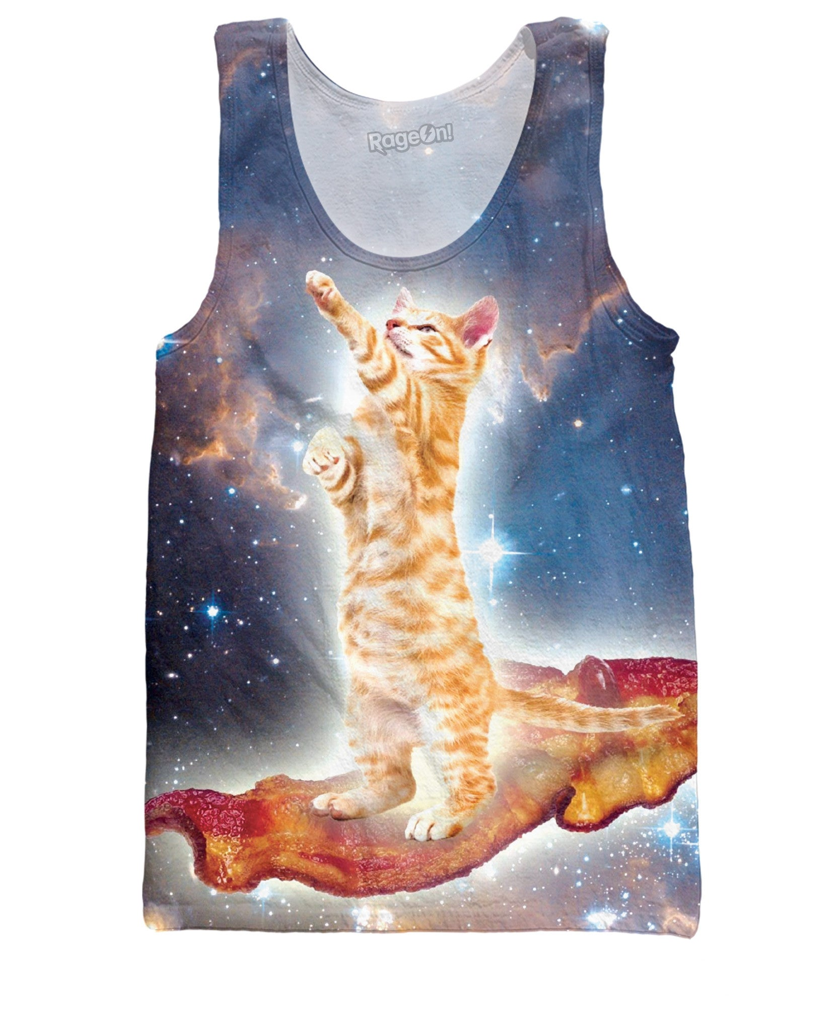 Bacon Cat Tank Top - TShirtsRUS.co