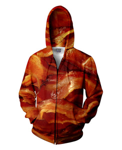 Bacon Zip-Up Hoodie - TShirtsRUS.co