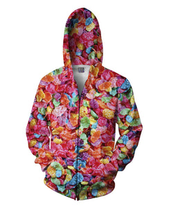 Fruity Pebbles Zip-Up Hoodie - TShirtsRUS.co