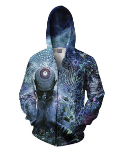 Gratitude for the Earth and Sky Zip-Up Hoodie - TShirtsRUS.co