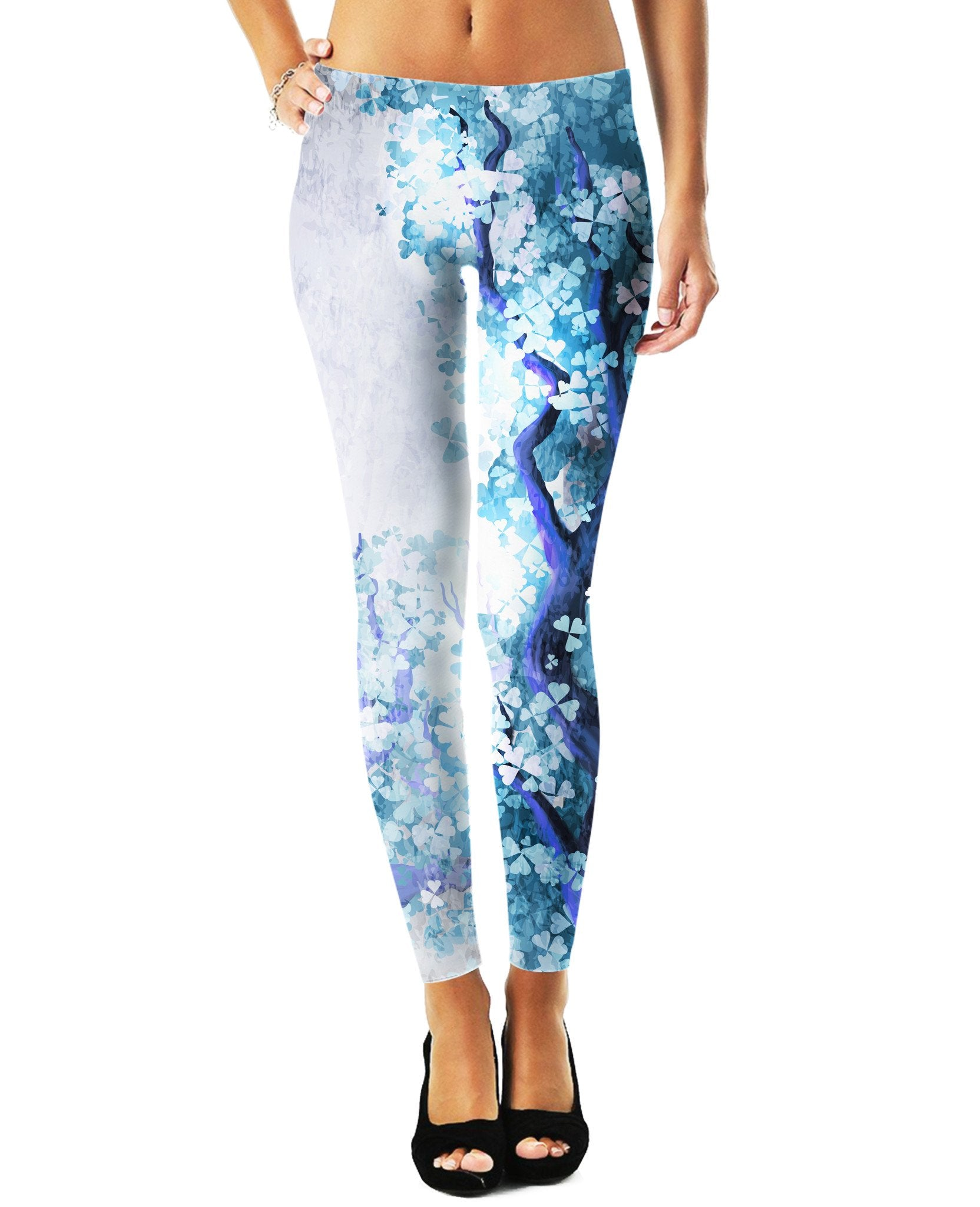 Blossom Leaves Leggings - TShirtsRUS.co