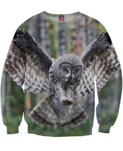 Flying Owl Sweatshirt - TShirtsRUS.co