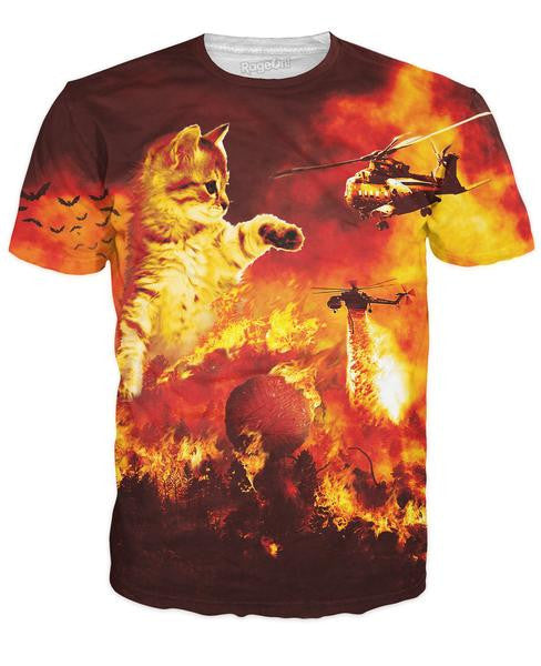 Forest Fire Kitten T-Shirt - TShirtsRUS.co