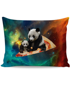 Space Pizza Panda Pillow Case - TShirtsRUS.co