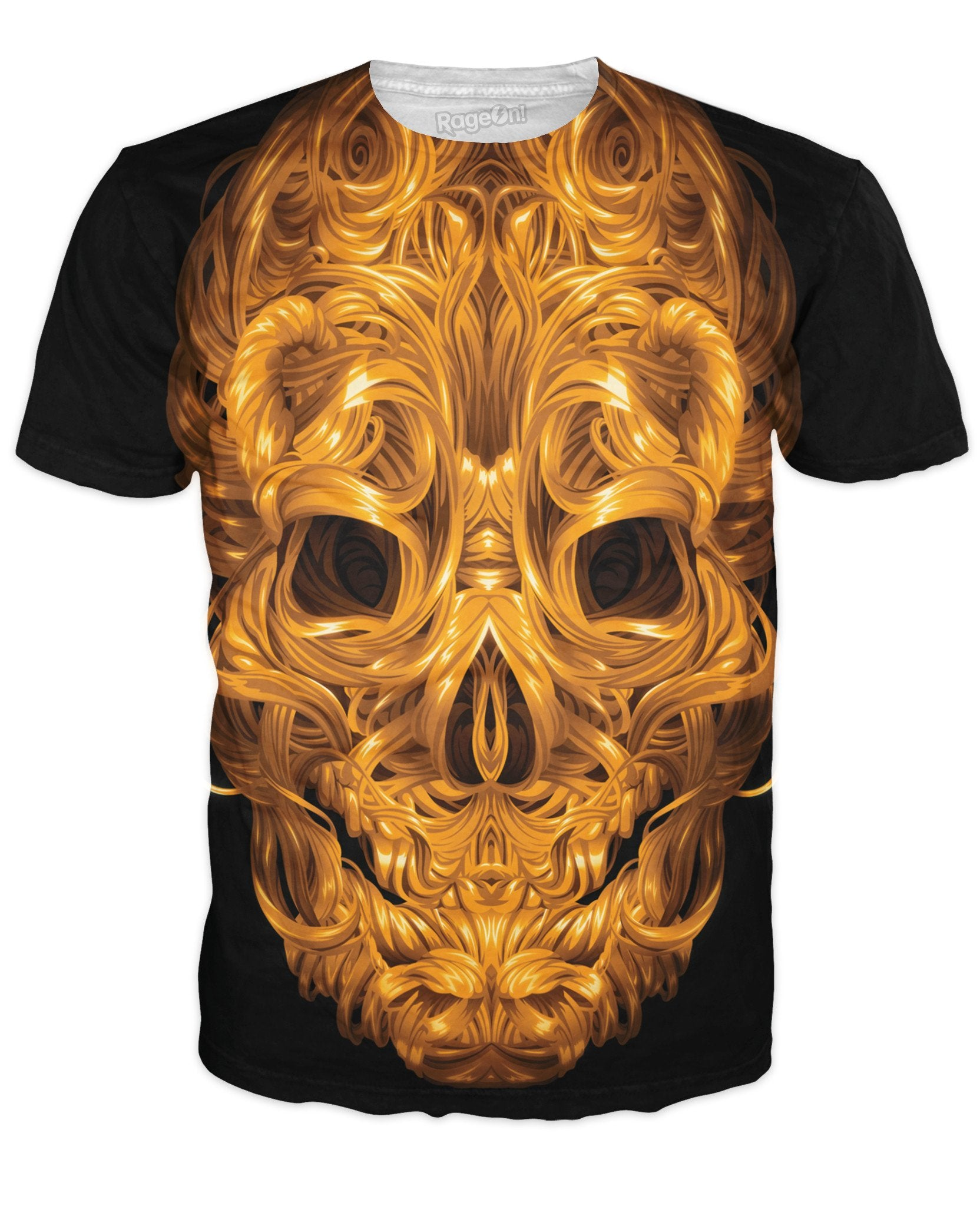 Aurum Clavariam Golden Skull T-Shirt - TShirtsRUS.co