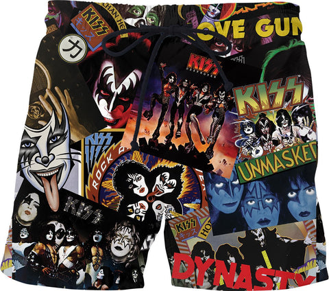 KISS Discography Swim Shorts
