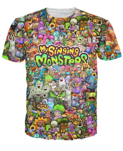 My Singing Monsters Character Collage T-Shirt - TShirtsRUS.co