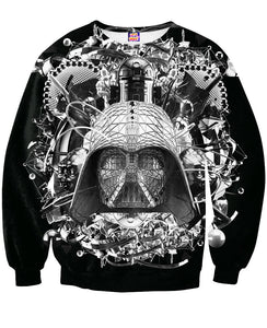 Digital Empire B&W Crewneck Sweatshirt - TShirtsRUS.co