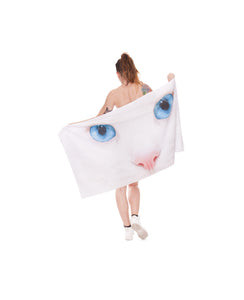 Cat Beach Towel - TShirtsRUS.co
