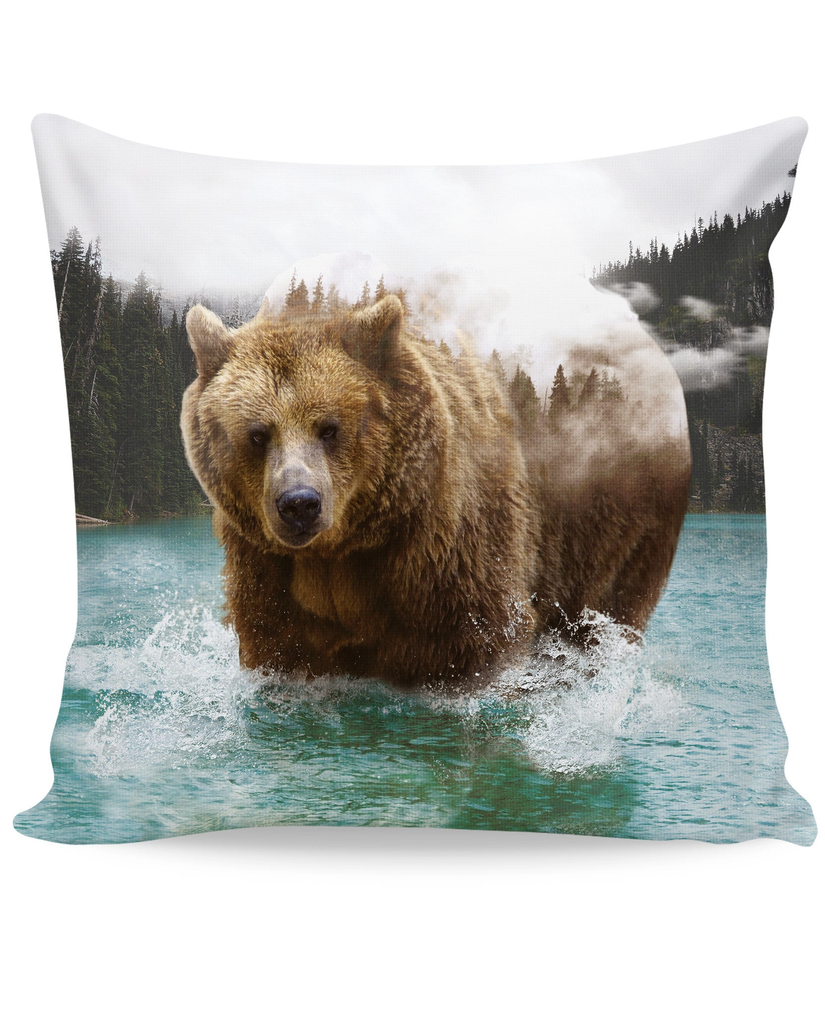 Bear Mountain Couch Pillow - TShirtsRUS.co
