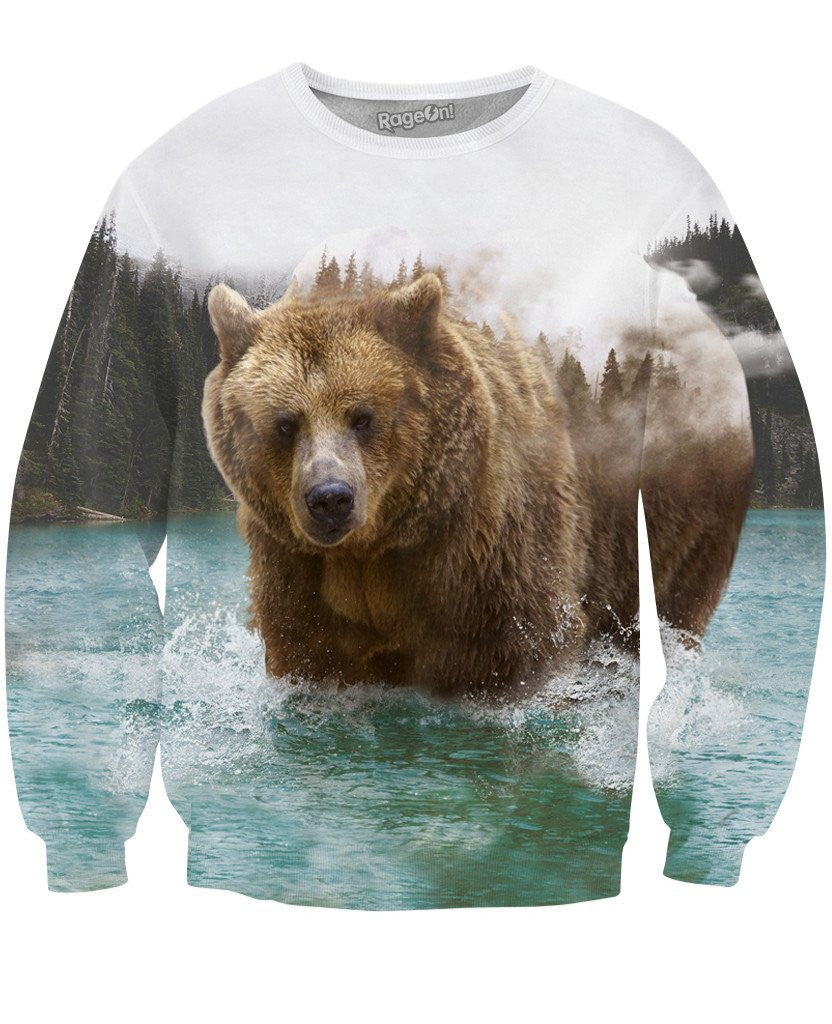 Bear Mountain Crewneck Sweatshirt - TShirtsRUS.co