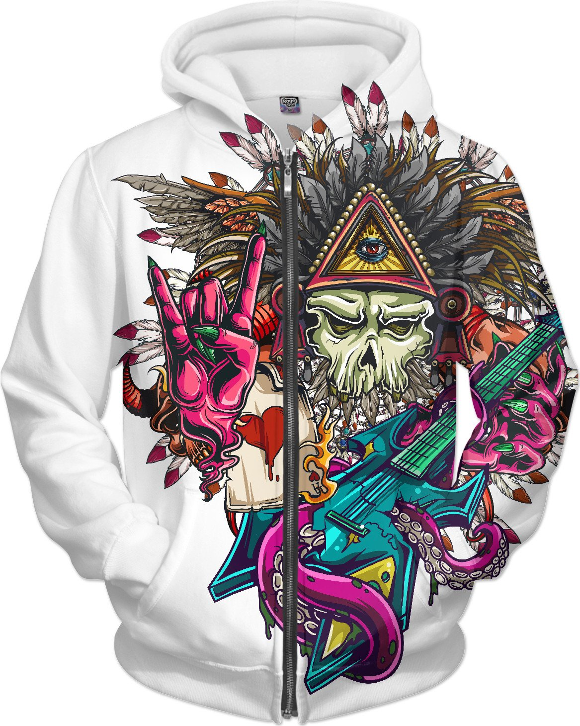 Demon Rocker Hoodie - TShirtsRUS.co