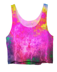Blue And Pink Prophecy Crop Top - TShirtsRUS.co
