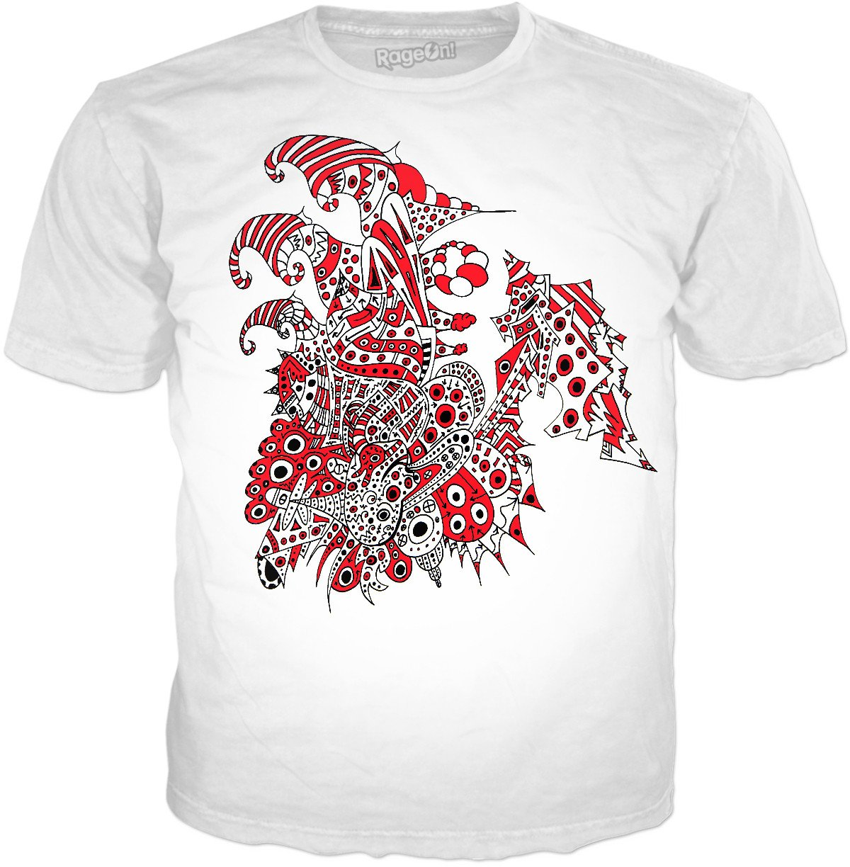 Alien 57 White & Red T-Shirt - TShirtsRUS.co