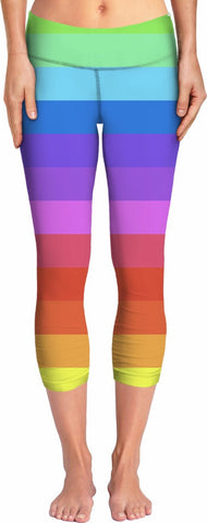 Rainbow Stripes Yoga Pants - TShirtsRUS.co