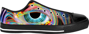 Infinity Eye Black Low Tops
