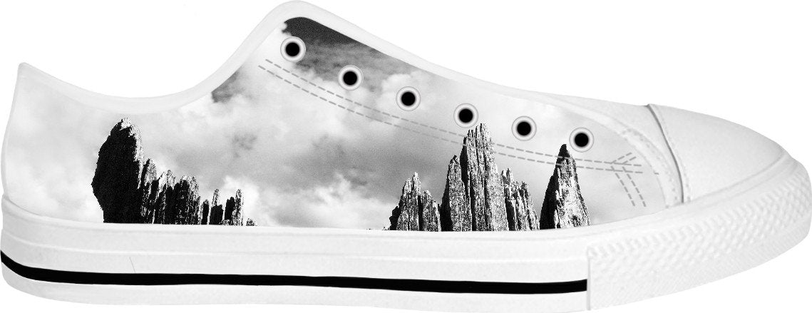 Lightning Tree White Low Tops - TShirtsRUS.co