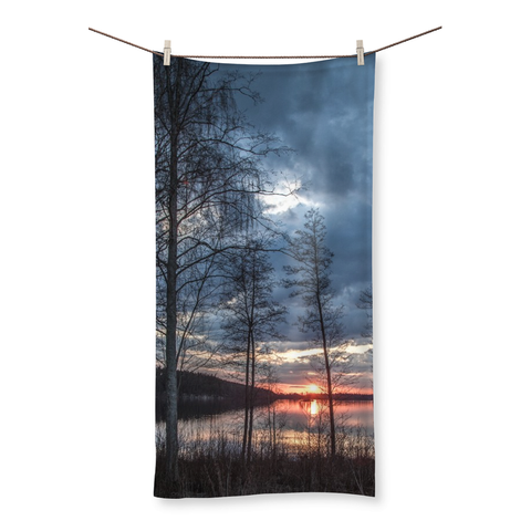 Lake Scenery Beach Towel