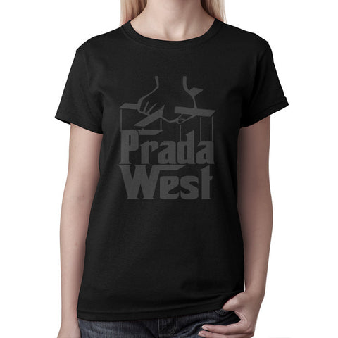 The Pradfather Women's Tee - Black on Black