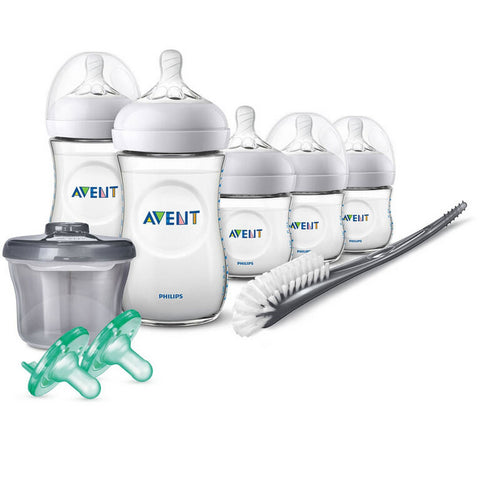 PHILIPS AVENT Natural Baby Plastic Bottles Infant Starter Set