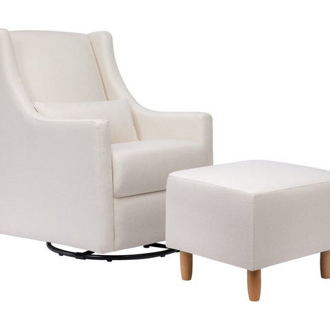 BABYLETTO Toco Swivel Glider and Ottoman in Eco-Performance Fabric