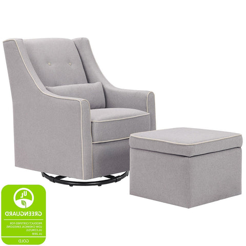 DAVINCI Owen Swivel Glider and Storage Ottoman