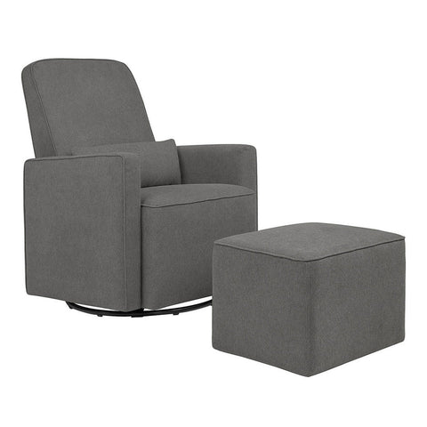 DAVINCI Olive Swivel Glider and Ottoman
