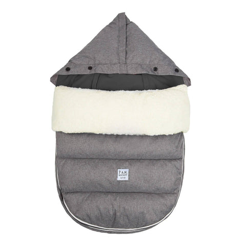 7AM ENFANTLambPod + Base (18M-3Y) - Heather Grey/Black
