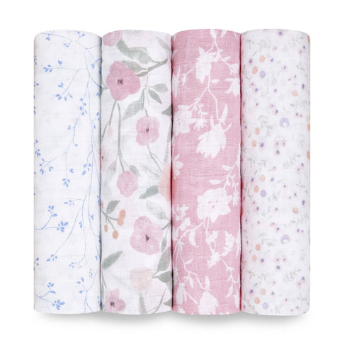 Four Printed Swaddle