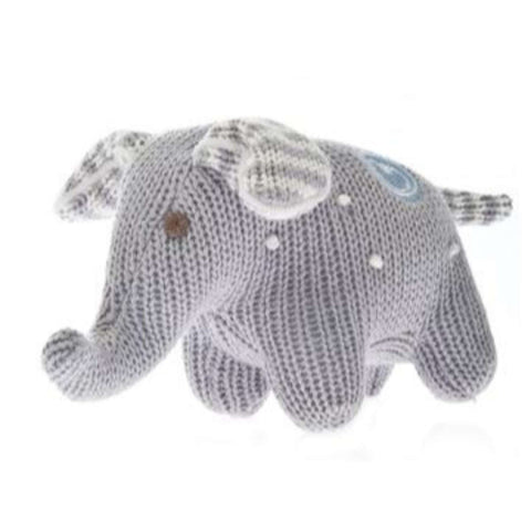 Beba Bean Rattle Plush - Elephant Polkadot Grey Plushes & Soft Toys BEBA BEAN - Kido Bebe