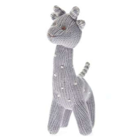 Beba Bean Rattle Plush - Giraffe Polkadot Grey Plushes & Soft Toys BEBA BEAN - Kido Bebe