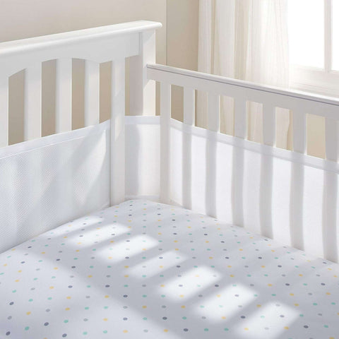 BREATHABLE BABY Breathable Mesh Crib Liner - White Crib Bumper Pads BRETHABLE BABY - Kido Bebe