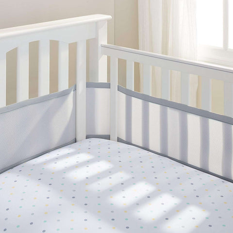 BREATHABLE BABY Breathable Mesh Crib Liner - Grey Crib Bumper Pads BRETHABLE BABY - Kido Bebe