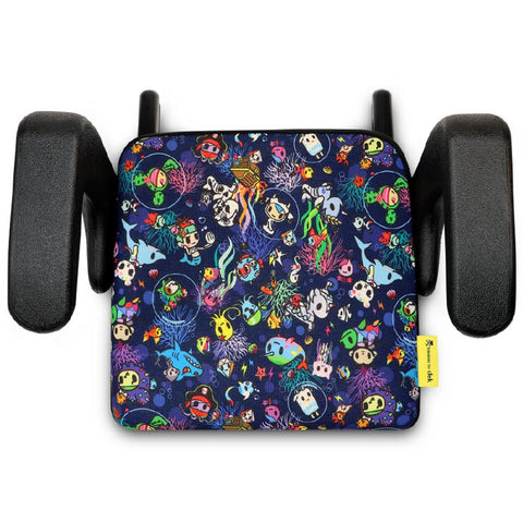 CLEK Olli Portable Latching Backless Booster Seat - Tokidoki Reef Rider