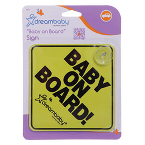 DREAMBABY Baby on Board Sign with Suction Cups Car Seat Accessories DREAMBABY - Kido Bebe