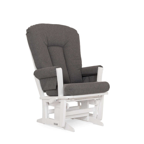 DUTAILIER Classic Glider 64B 100 White Finish with Charcoal Grey Fabric Gliding & Rocking Chairs DUTAILIER - Kido Bebe