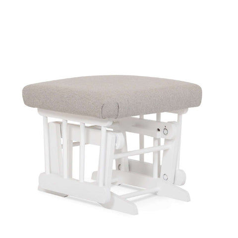 DUTAILIER Classic Gliding Ottoman 610 190 White Finish with Light Grey Fabric Ottomans DUTAILIER - Kido Bebe