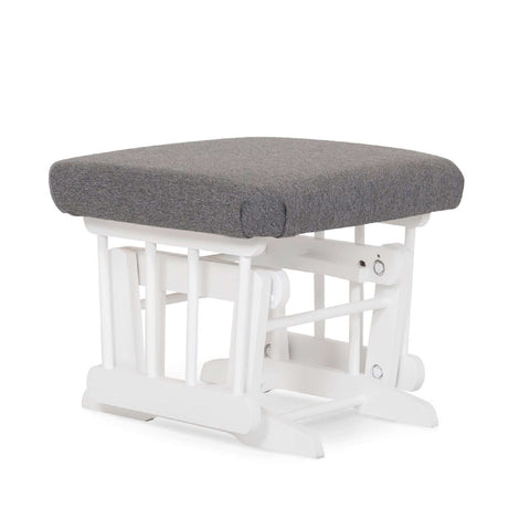 DUTAILIER Classic Gliding Ottoman 610 190 White Finish with Charcoal Grey Fabric Ottomans DUTAILIER - Kido Bebe
