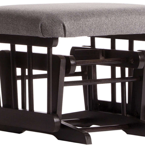 DUTAILIER Classic Gliding Ottoman 610 190 Espresso Finish with Charcoal Grey Fabric Ottomans DUTAILIER - Kido Bebe