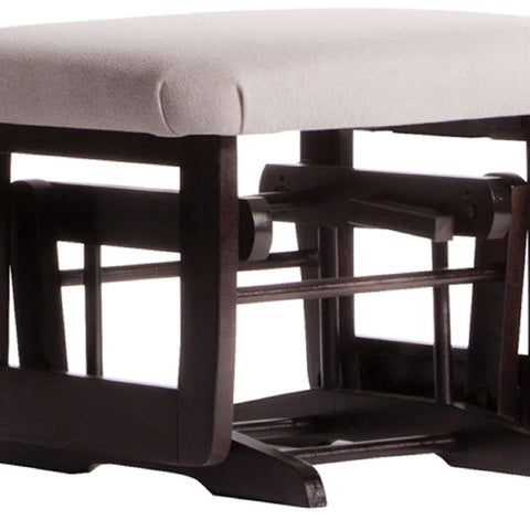 DUTAILIER Classic Gliding Ottoman 614 190 Espresso Finish with Light Grey Fabric Ottomans DUTAILIER - Kido Bebe