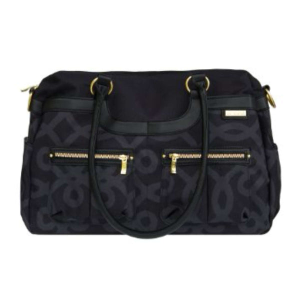 JJ Cole Satchel Diaper Bag - Black / Gold Diaper Bags JJCOLE - Kido Bebe