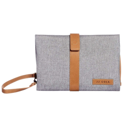 JJCOLE Changing Clutch - Heather Gray W/Tan Changing Pads JJCOLE - Kido Bebe